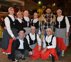 El Rebote de San Adrián recibió al Olentzero con bailes y música