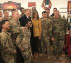 Trump y su esposa viajaron por sorpresa a Irak para visitar a las tropas de EE UU