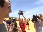 Roger Federer sorprende a una pareja en el día de su boda