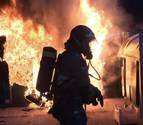 Arden diez contenedores esta noche en Zaragoza en el mismo intervalo de tiempo