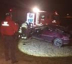 Una mujer herida grave en un accidente en Legaria