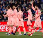Messi y Luis Suárez dan una victoria sin brillo al Barcelona en Getafe