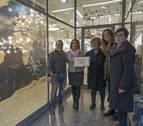 Roa Luz y la floristería Cúrcuma, mejores escaparates de Navidad en Estella