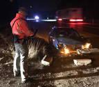 Un joven de Olite, herido tras salirse de la carretera y chocar en la N-121