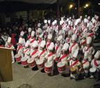 Lakuntza se prepara para recibir a San Saastin a golpe de tambor