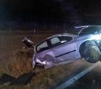 Una persona resulta herida en un accidente de tráfico en Allo