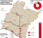 El 90% de la red de carreteras de Navarra se limita desde hoy a los 90 km/h