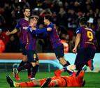 El Barcelona golea al Sevilla y se clasifica para semifinales