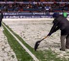 Osasuna protege El Sadar ante la previsión de frío y nieve