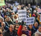 Pensionistas navarros y vascos aumentan sus protestas
