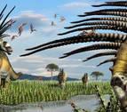Descubren una nueva especie de dinosaurio con largas espinas en el cuello