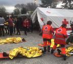 Simulacro de accidente de tren en la UN: