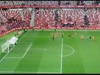 Los jugadores de Osasuna no se olvidaron de su afición tras ganar al Sporting