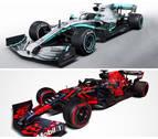 Mercedes y Red Bull desvelan sus nuevos monoplazas