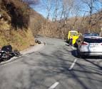 Herido un motorista en Roncesvalles tras un roce lateral con un turismo