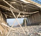 El tramo del puente de Tudela contra el que chocó un camión se derribará