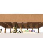 La zona infantil de juegos del parque del lago contará con una cubierta