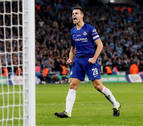 El espectacular lanzamiento de penalti de Azpilicueta ante el Manchester City