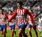 Morata mantiene al Atlético en la carrera por el título