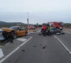 Trasladada una persona al hospital tras un accidente en la NA-122, en el cruce de Arróniz