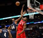 Un 'doble-doble' de Ibaka para el triunfo de los Raptors en Nueva Orleans