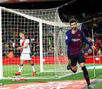 El Barça supera el susto del Rayo y cumple con el expediente