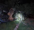 Una persona herida tras el vuelco de su vehículo en la NA-122, a la altura de Lerín