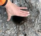 Denuncian los agujeros en el terreno de la planta de Imárcoain