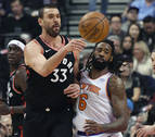Jazz y Raptors arrasan a sus rivales con buenas actuaciones de Rubio y Gasol