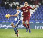 El delantero Carlos Fernández, con molestias, baja probable ante Osasuna