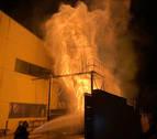 Extinguido un incendio en el silo de una carpintería del polígono de Arguedas