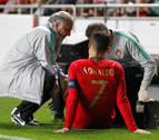 Cristiano Ronaldo sufre una lesión de