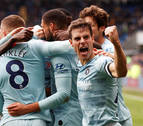 César Azpilicueta inicia la remontada del Chelsea en Cardiff