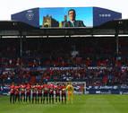 Emotivo minuto de silencio, pancartasy cánticos en recuerdo a Javier Miranda