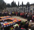 Inhumados en Pamplona los restos de 46 víctimas de la Guerra Civil sin identificar