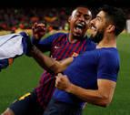 Messi y Suárez derriban el muro rojiblanco y dejan la Liga sentenciada