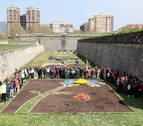 Exposición de jardines sobre el cambio climático en los fosos de la Ciudadela
