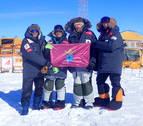Distintivo artajonés en la Antártida