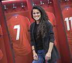 Miriam Rivas, la patinadora que marcó gol en El Sadar