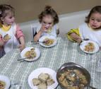 Los cambios en los menús escolares del Ayuntamiento de Pamplona