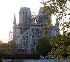 Aún inestable, Notre Dame empieza a pensar en su reconstrucción