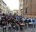 Tudela 'rompe la hora' con 120 tambores
