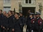 Macron rinde homenaje a los Bomberos que