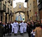 La patrona de Olite, la Virgen del Cólera, cambia de casa tras 150 años