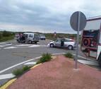 Cuatro personas heridas en un accidente en el cruce entre Allo y Arróniz