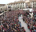 Daniella Garro cierra la Semana Santa en una multitudinaria Bajada del Ángel en Tudela