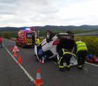 Una persona herida en un accidente entre Acedo y Mués