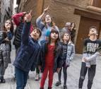 Los niños conocen Tudela..., de pista en pista