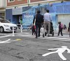 Sin miedo a cruzar la calle camino de clase