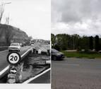 IMAGEN INTERACTIVA | Cuando cambió... el puente de Burlada